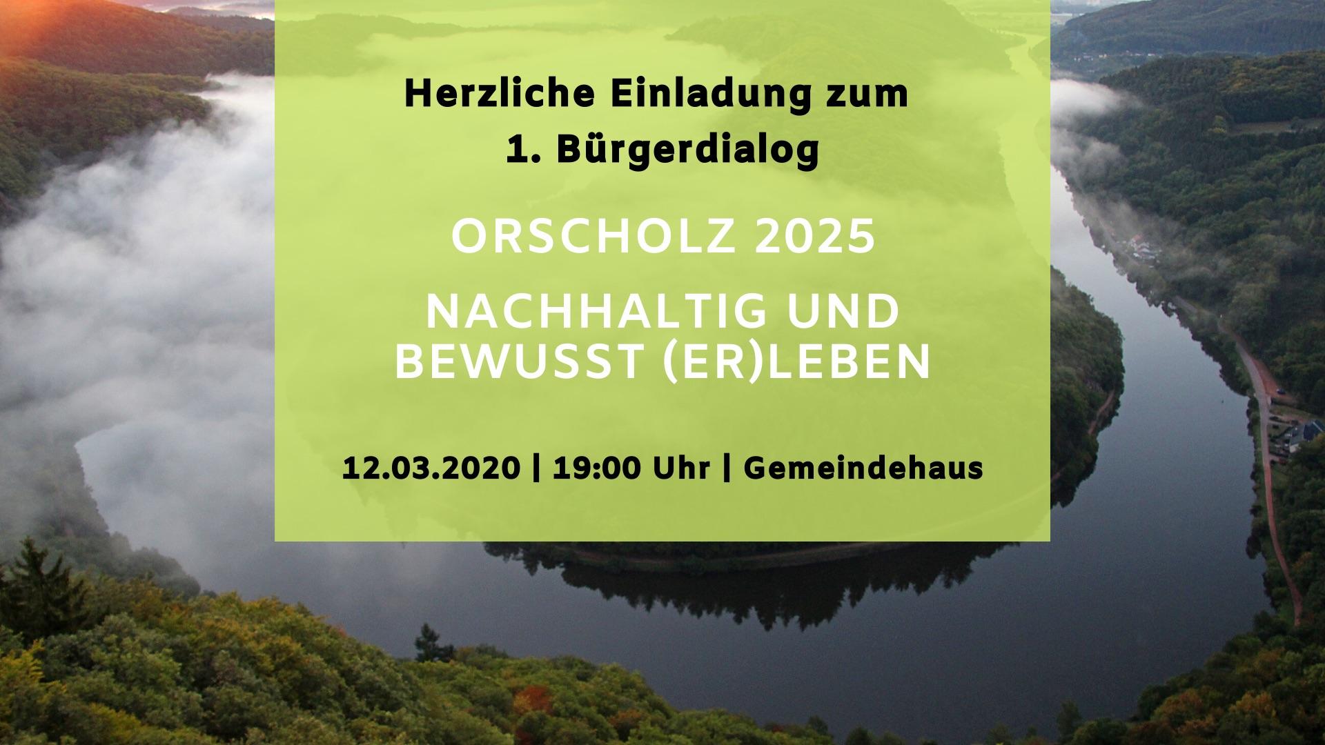 Auftakt der OrscholzAG – 1. Bürgerdialog am 12.03. im Gemeindehaus